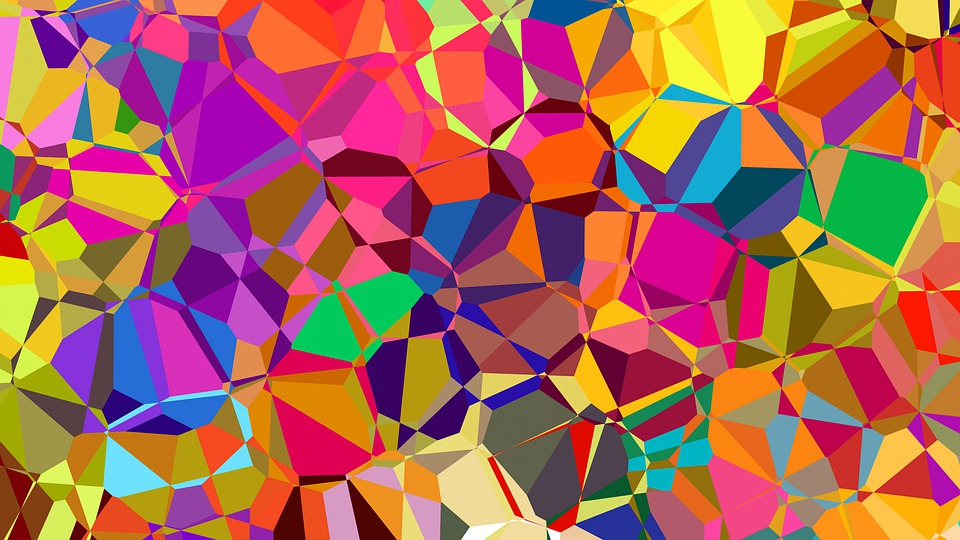 Color, Abstract, Polygon, Background, Textures, Pattern