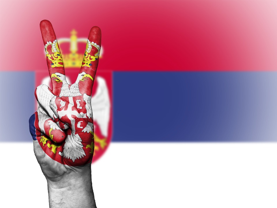 Serbia, Peace, Hand, Nation, Background, Banner, Colors