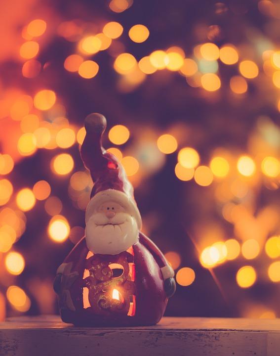 Christmas, Santa Claus, Creative, Background, Bokeh