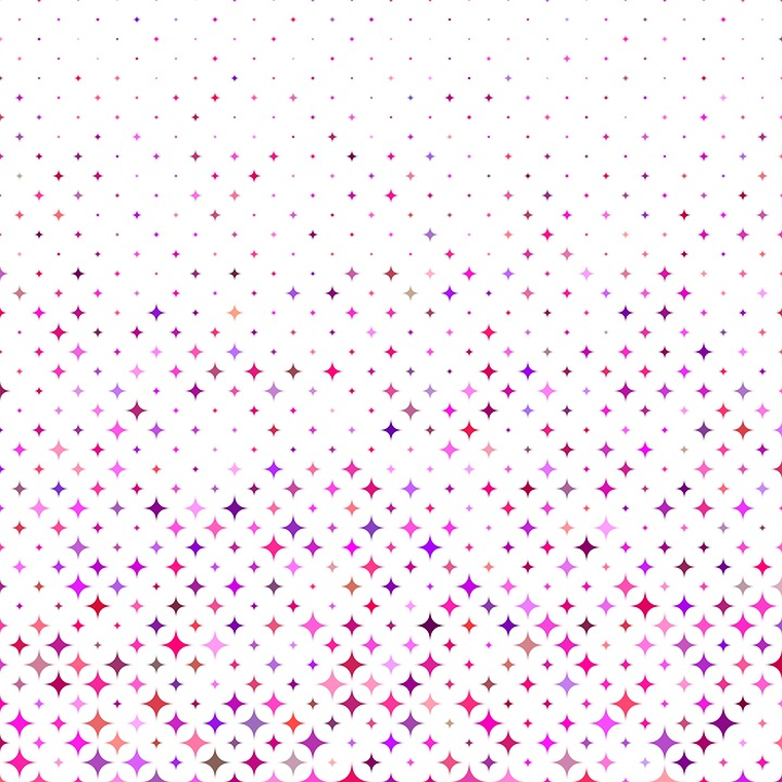Free photo Background Curved Shape Pattern Repeat Star Color Max