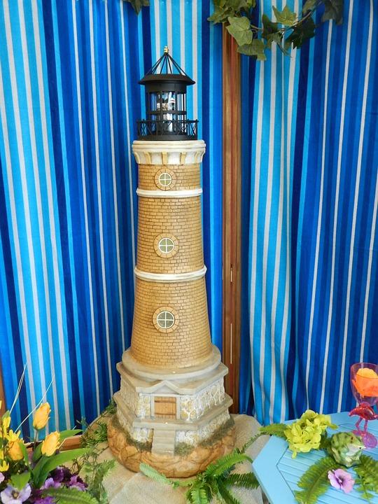 Background, Scrapbooking, Lighthouse, Decor, Spring