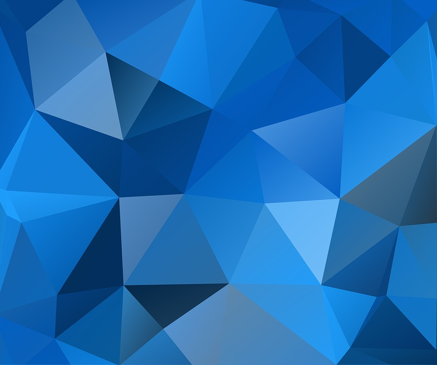 Free photo Background Design Blue Texture Triangles Polygon