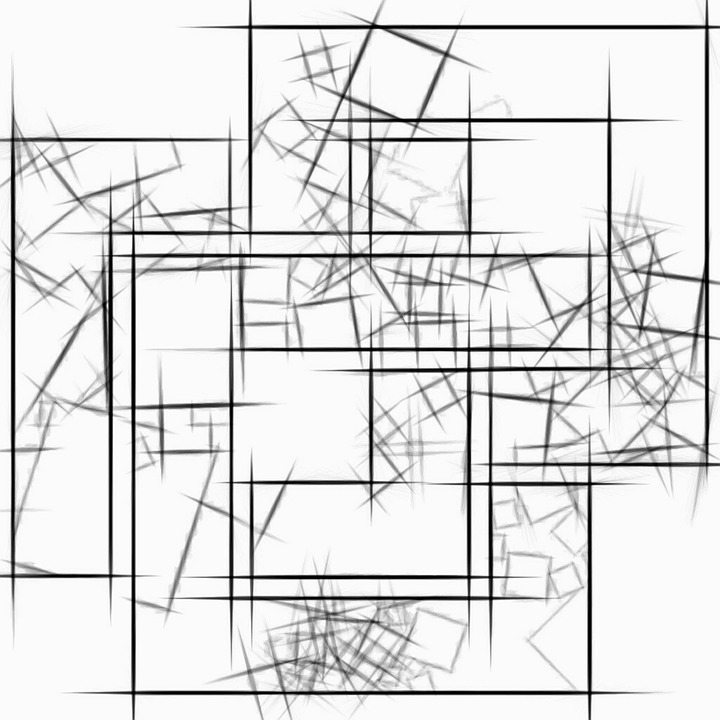 Background, Abstract, Drawing, Squares