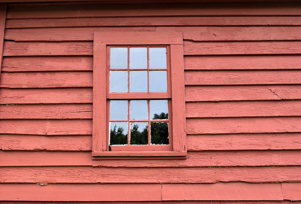 Exterior Wall, Background, Red Paint, Window, Building