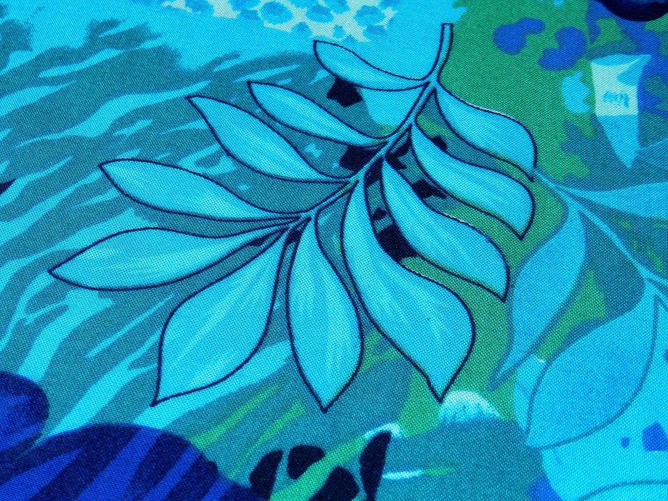 Background, Fabric, Patterns, Blue Flowers, Pattern