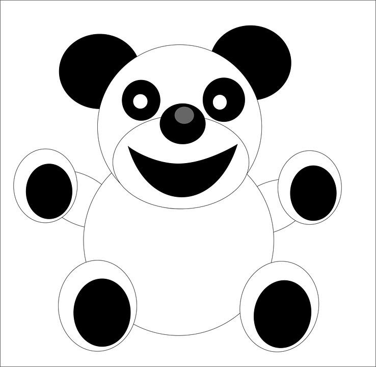 Panda, Figure, Cartoon, Doll, Bear, Background