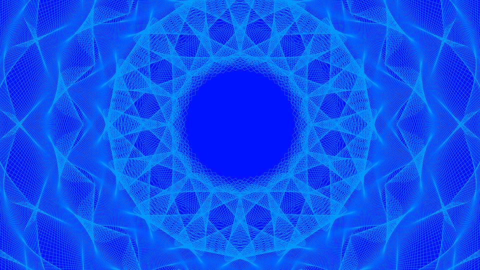 Background, Lines, Figures, Wallpaper, Design, Blue