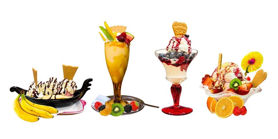 Eat, Food, Ice, Ice Cream Sundae, Background, Fruit