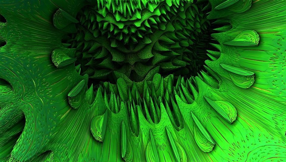 Fractal, Rendering, Background, Green, Graphic