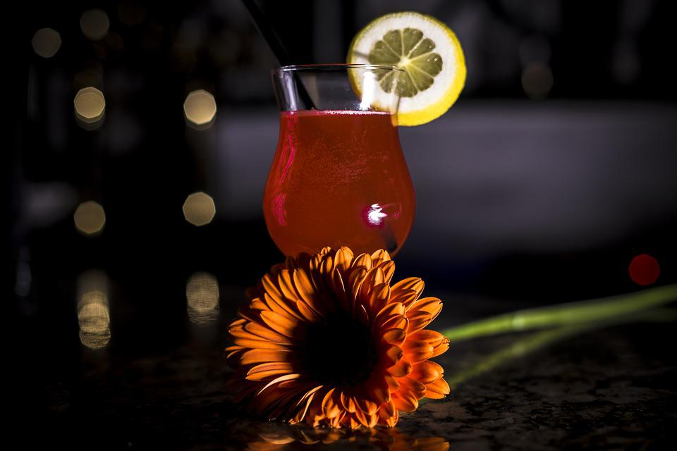 Glass, Drink, Background, Flower