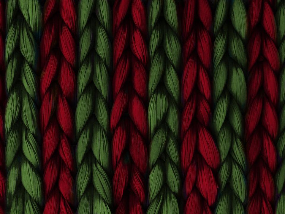Background, Weave, Plait, Red, Green, Texture, Pattern