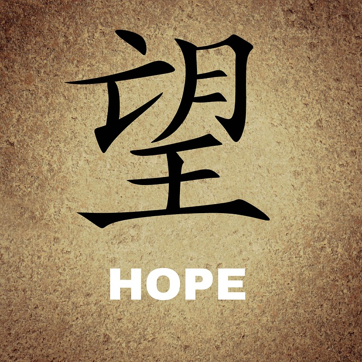 Chinese, Characters, Background, Hope