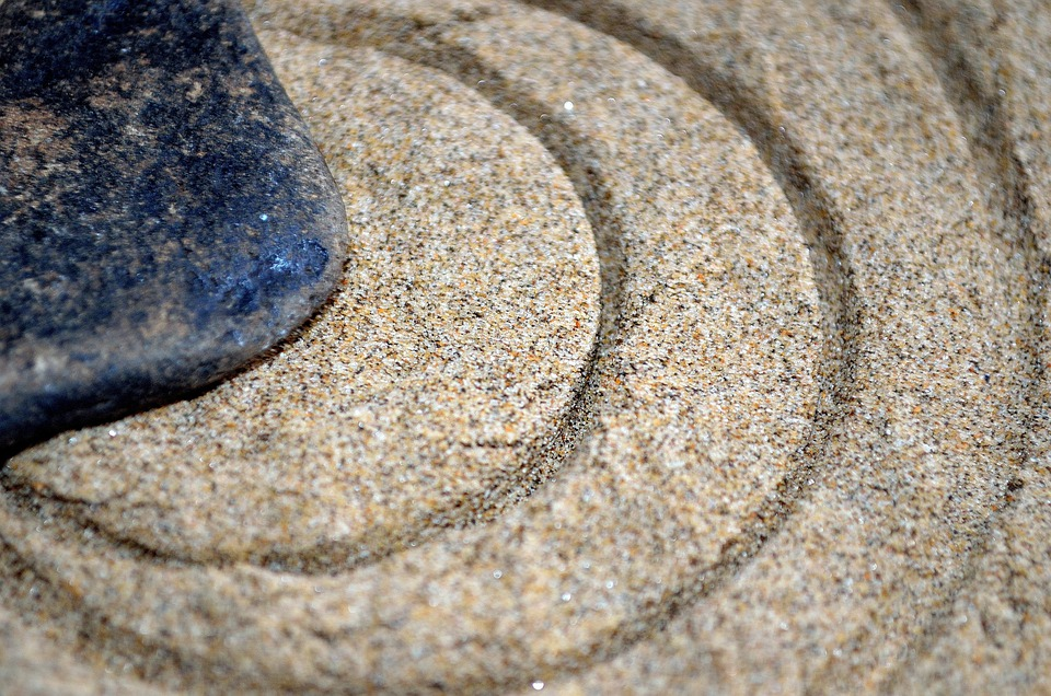 Stone, Sand, Circle, Circles, Macro, Symbol, Background