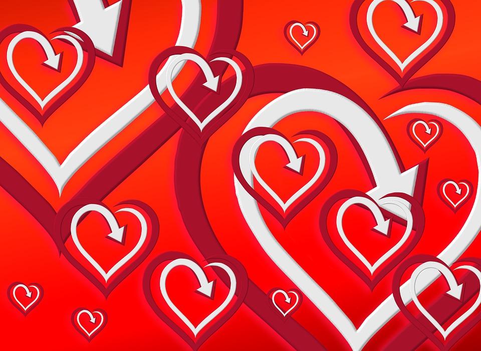 Heart, Background, Wallpaper, Pattern, Many