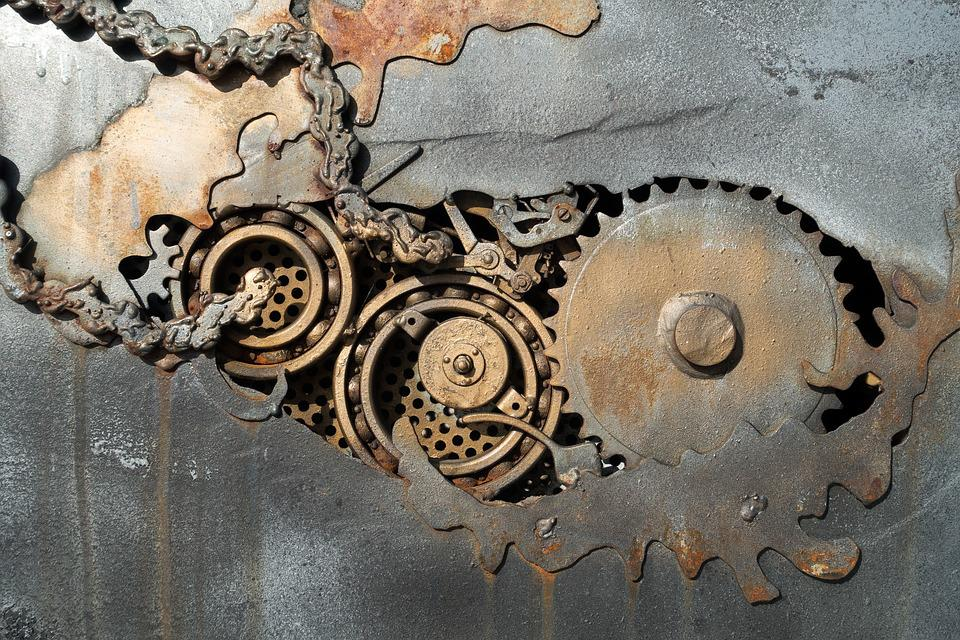 Metal, Fund, Background, Structure, Stainless, Rusted