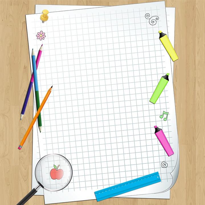 School, Notebook, Background, Paper