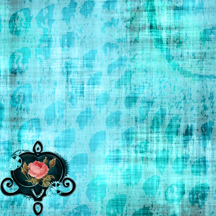 Background, Scrapbooking, Paper, Heart, Steampunk