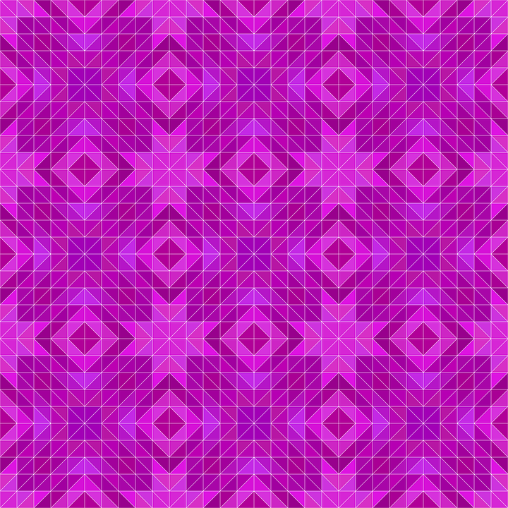 Magenta, Mosaic, Pattern, Triangle, Repeat, Background
