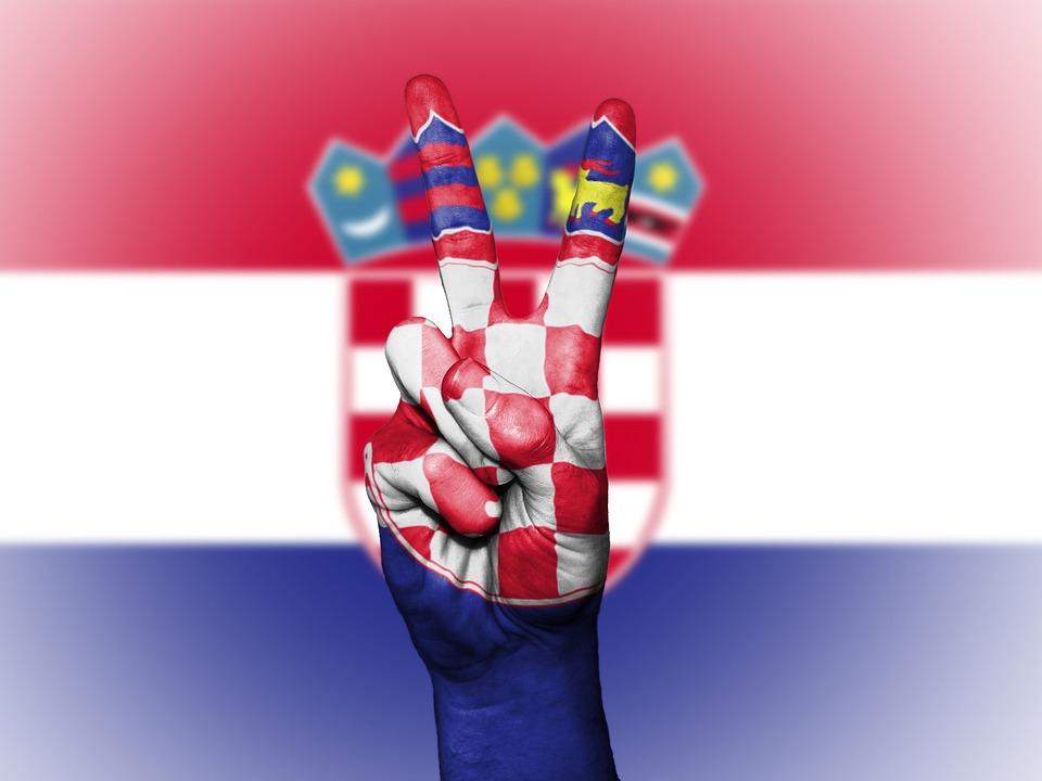 Croatia, Peace, Hand, Nation, Background, Banner