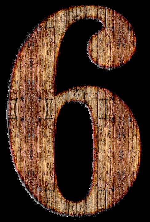Number, 6, Six, Digit, Background, Scrapbooking