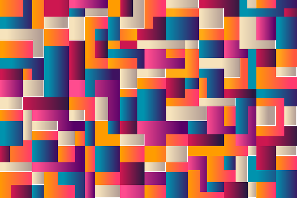 Abstract, Background, Geometry, Blocks, Squares