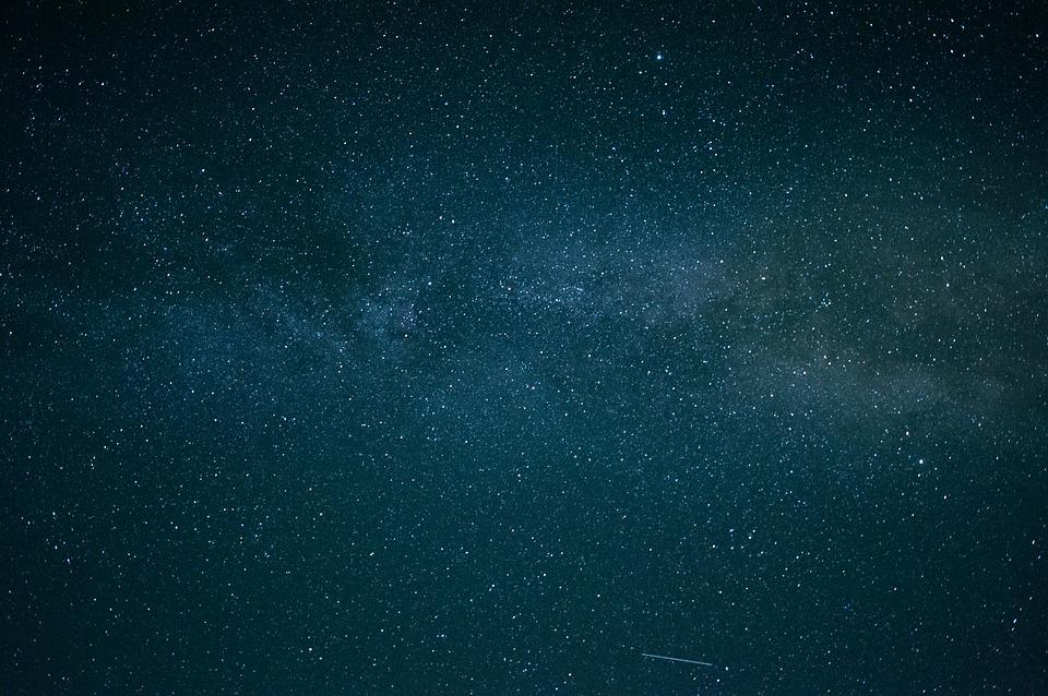 Milky Way, Night, Star, Universe, Background