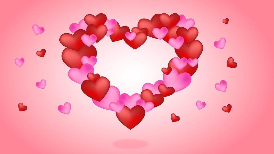 Free photo Hearts Valentine\'s Day Background Love Valentine - Max ...