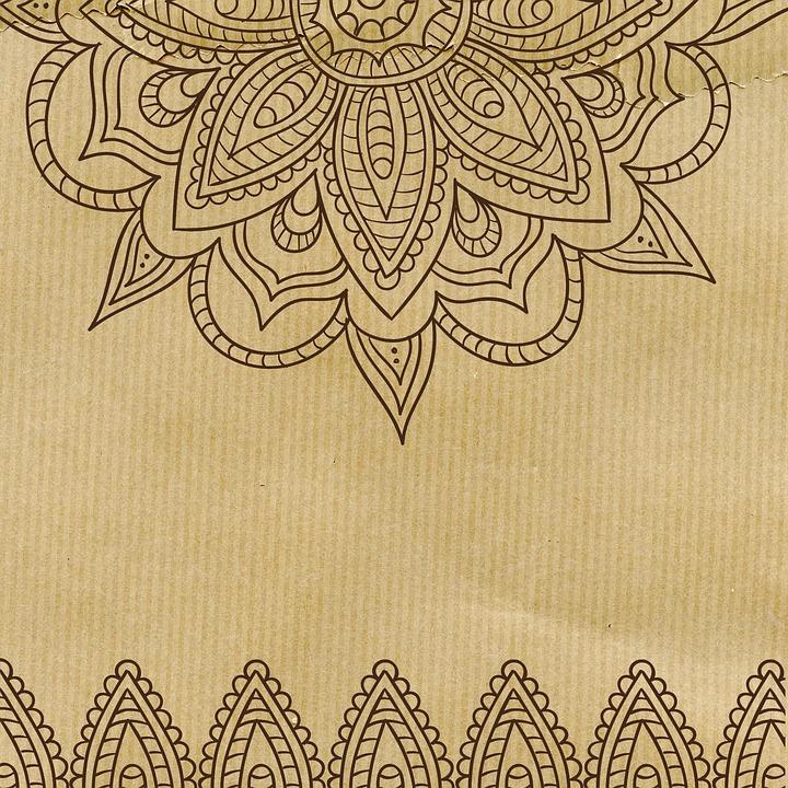 Free photo Background Vintage Mandala Pattern Floral Paper - Max Pixel