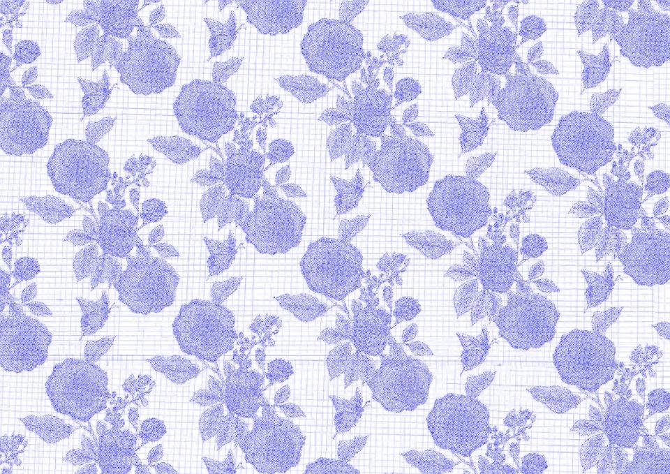 Blue, Flower Background, Wallpaper, Background, Pattern