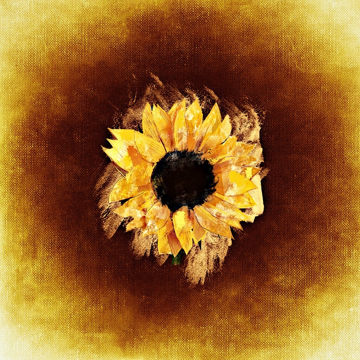 Sunflower, Watercolor, Background, Flower