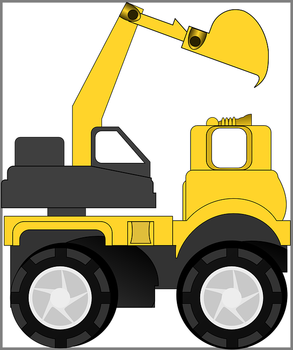 Heavy Machinery, Truck, Construction, Backhoe, Digger
