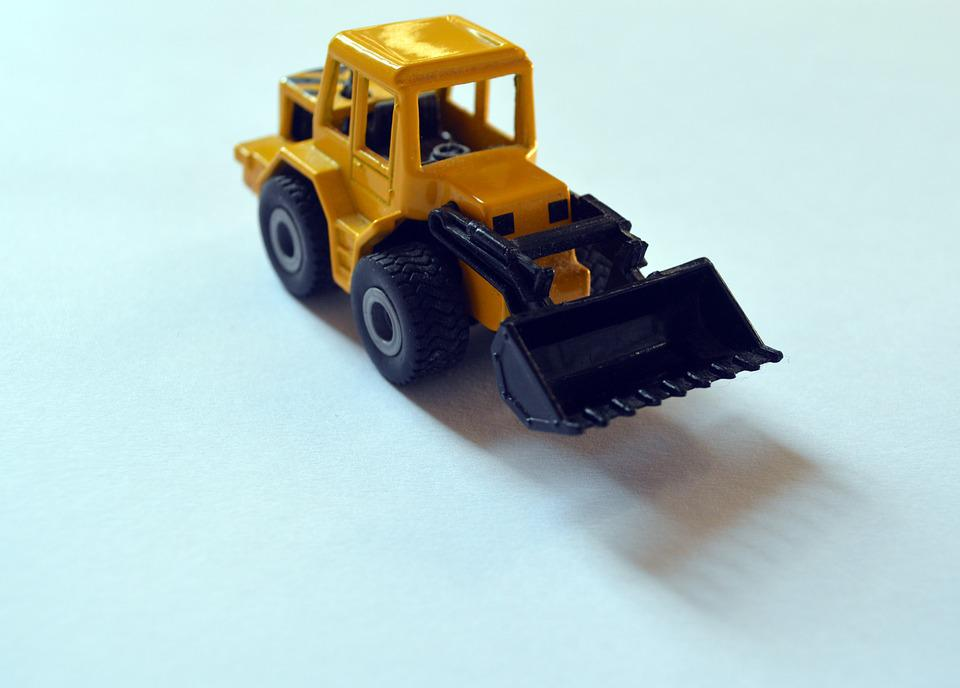 Backhoe, Backhoe Loader, Toy, Miniature, Figurine