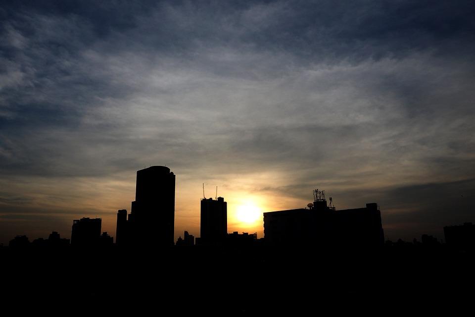 City, Backlight, Sun, Sunlight, Evening, Shine, Light
