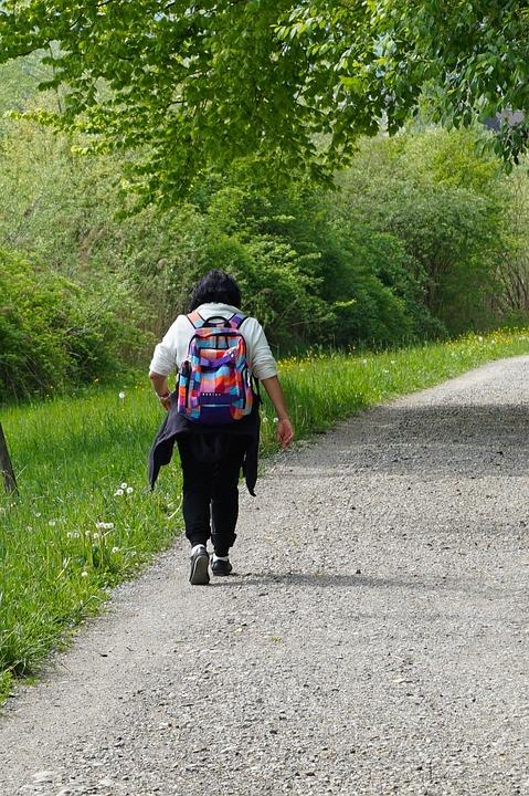 Nature, Recovery, Hiking, Wanderin, Backpack, Sidewalk
