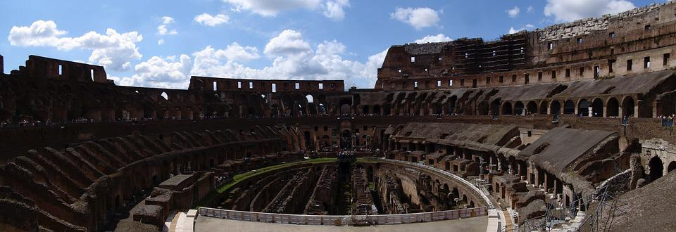 The Colosseum, Colosseo, Roman, Italy, Backpacking, Sky
