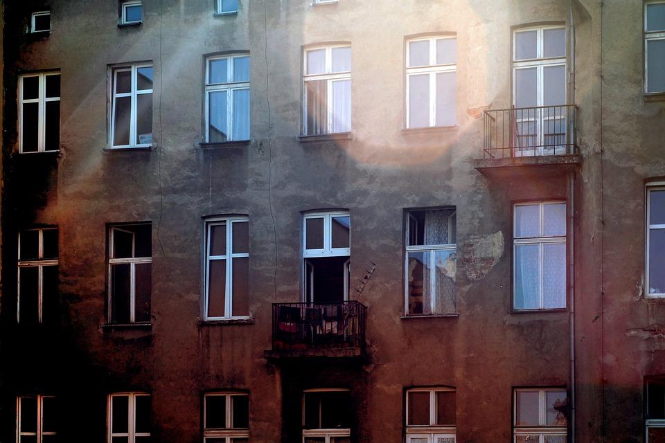 The Window, Kamienica, Backyard, Balcony, Light