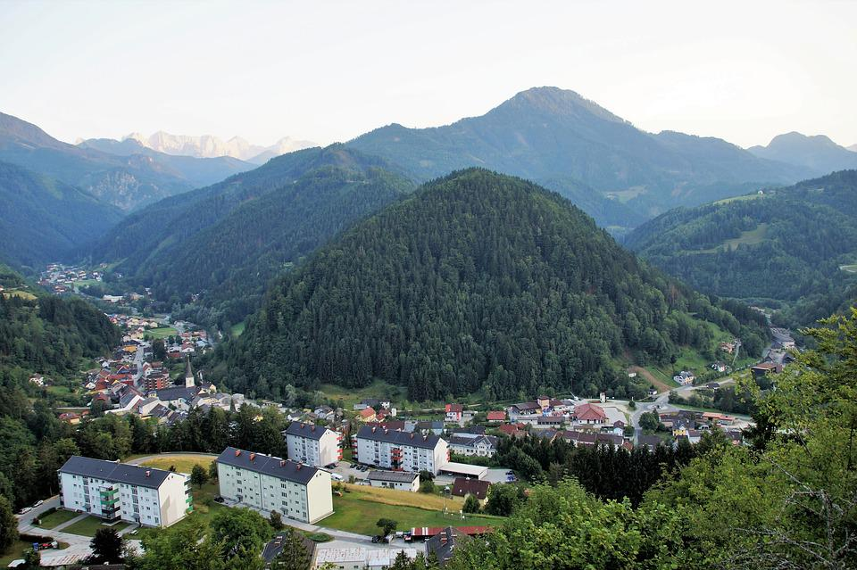 Bad Eisenkappel, železna All Right, Austria, Valley
