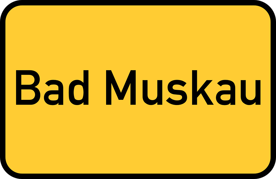Bad Muskau, Saxony, Upper Lusatia, Town Sign