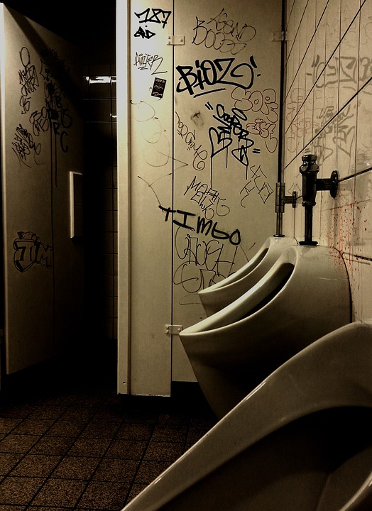 School Toilet, Toilet, Wc, Men's, Bad, Public, Gloomy
