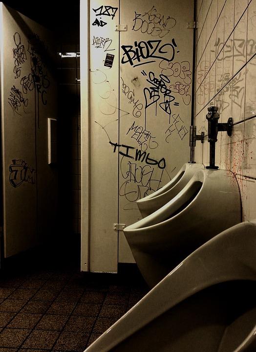 School Toilet, Toilet, Wc, Men's, Bad, Public, Gloomy