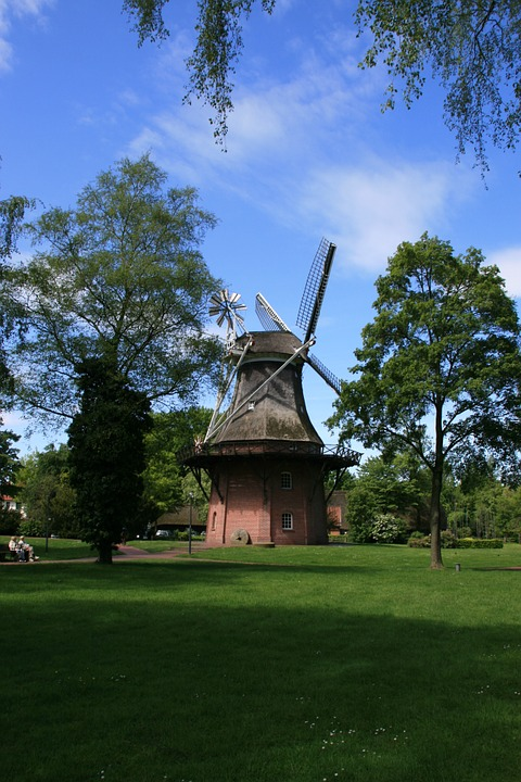 Windmill, Ammerland, Bad Zwischenahn, Summer