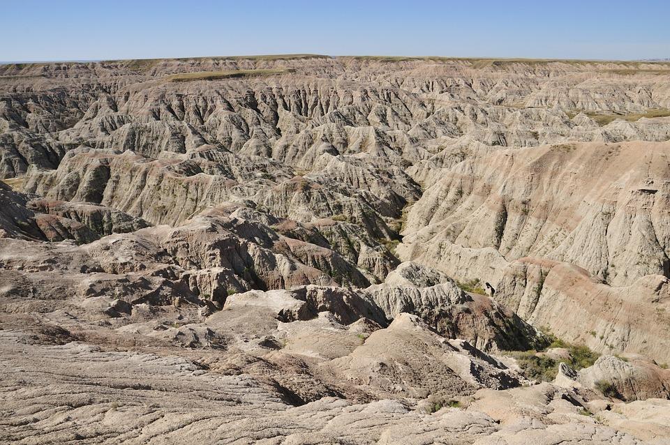 Badlands, National Park, Usa, Landscape