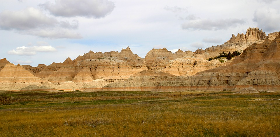 Badlands, South Dakota, Nature, Landscape, Sky