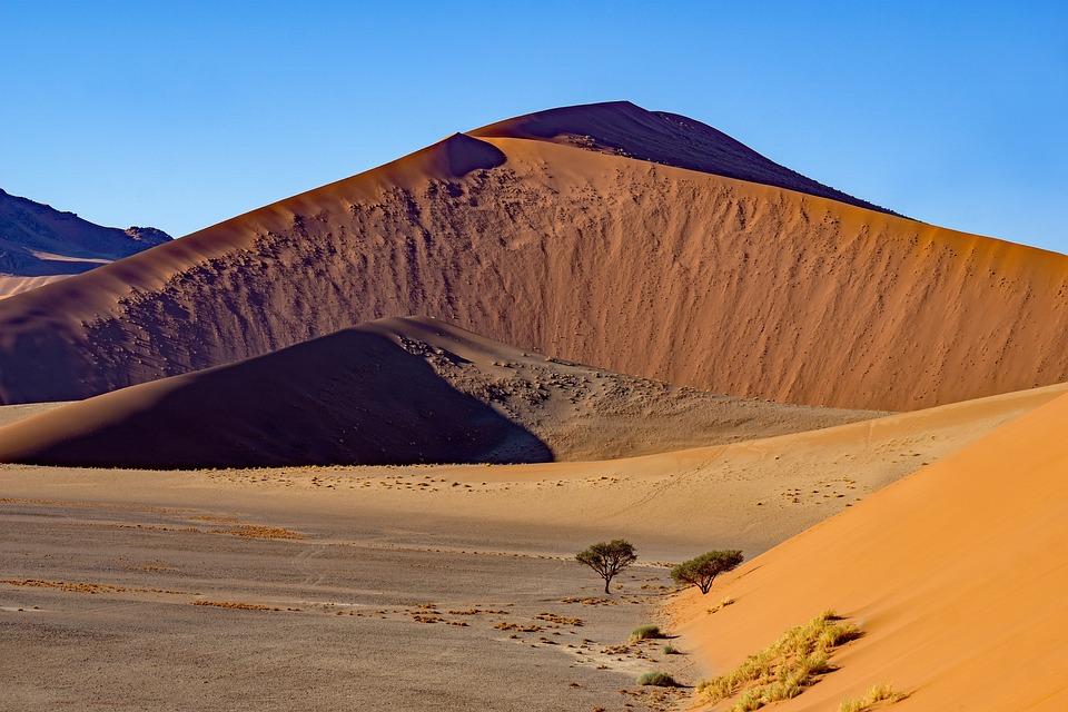 Desert, Dunes, Badlands, Barren, Namibia, Sossusvlei
