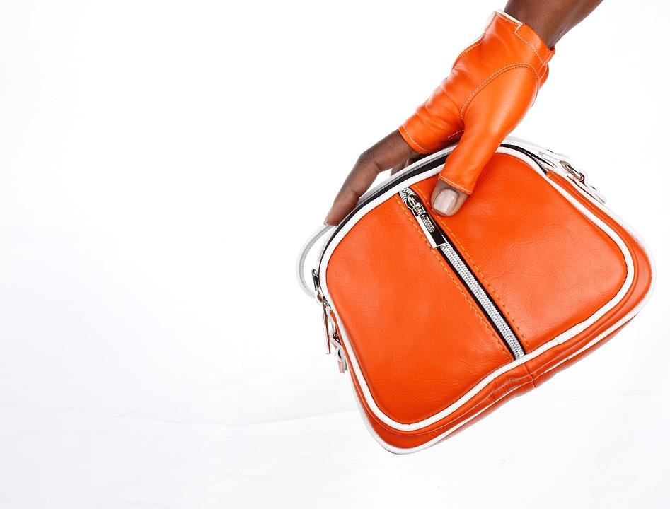 Bag, Hands, Gloves, Orange, Leather, Color