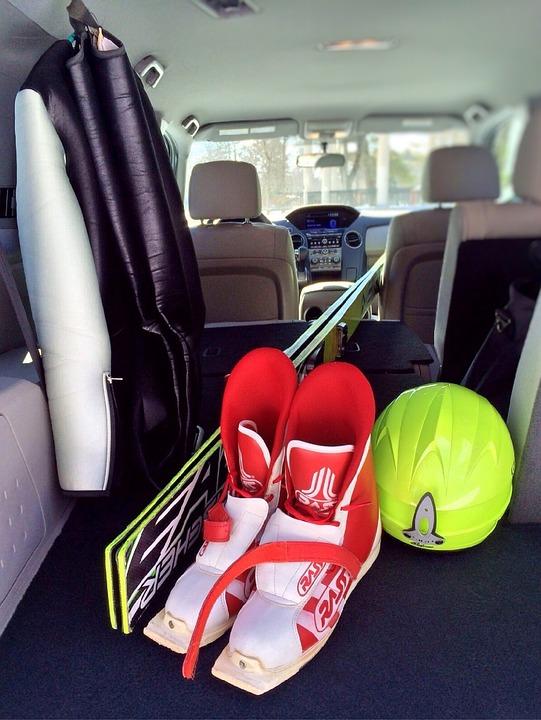 Car, Ski, Winter, Packing, Baggage, Gear