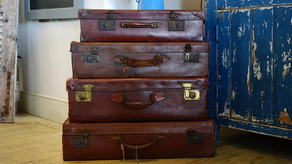 Luggage, Bags, Suitcase, Baggage, Brown, Case, Trip