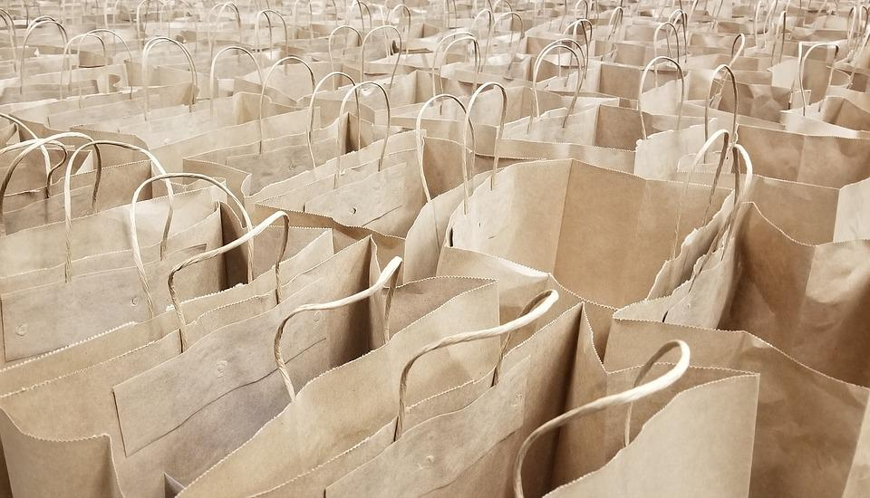 Bags, Paper, Shopping, Grocery, Container