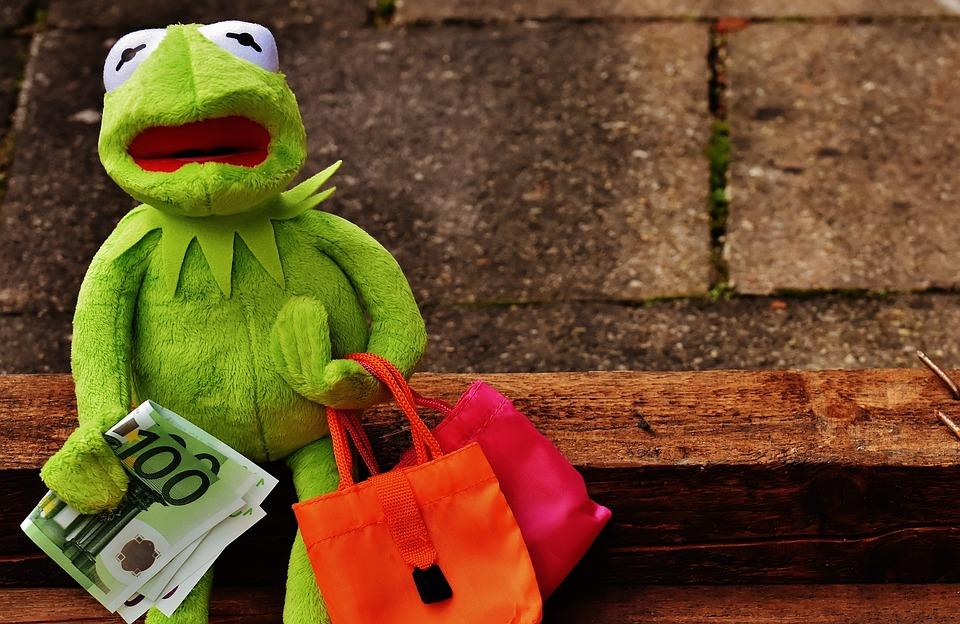 Shopping, Kermit, Money, Euro, Shopping Bags, Bags