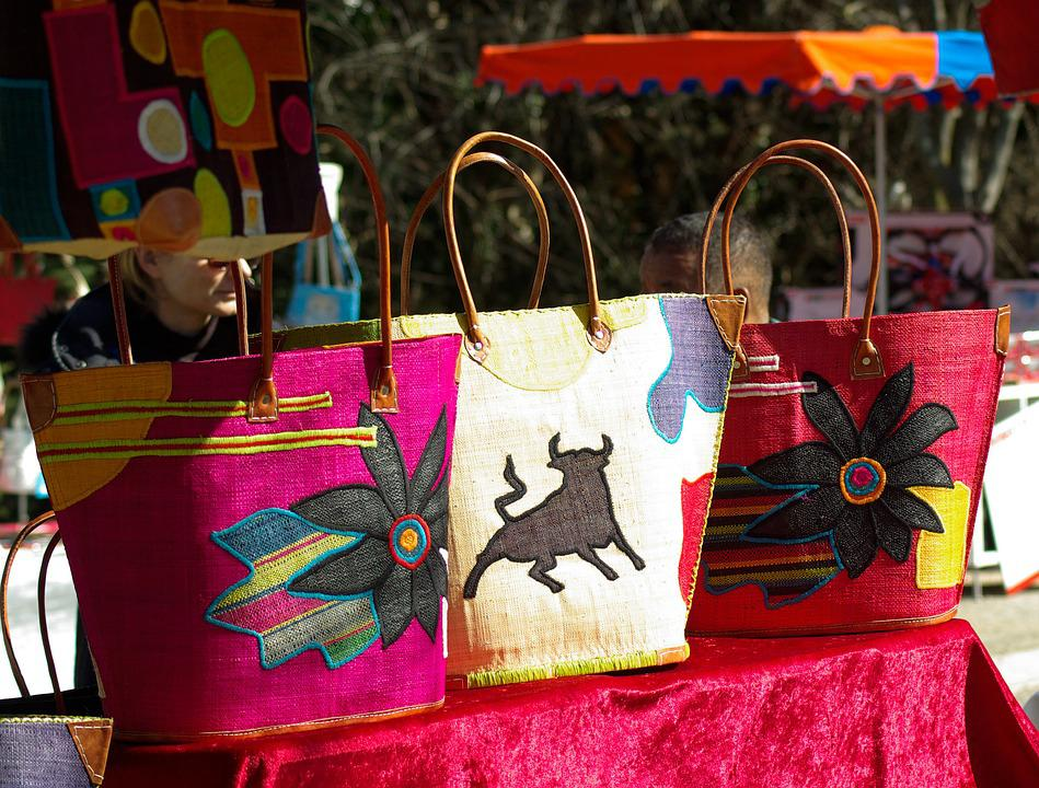 Bags, Crafts, Market, Shopping Carts